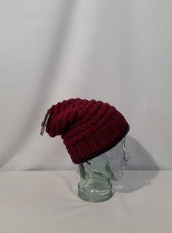 grobgestrickte Beanie Mütze