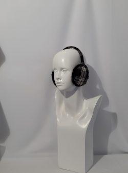 Ohrenschützer schwarz weiß karriert