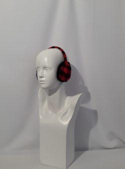 Ohrenschützer schwarz rot kariert